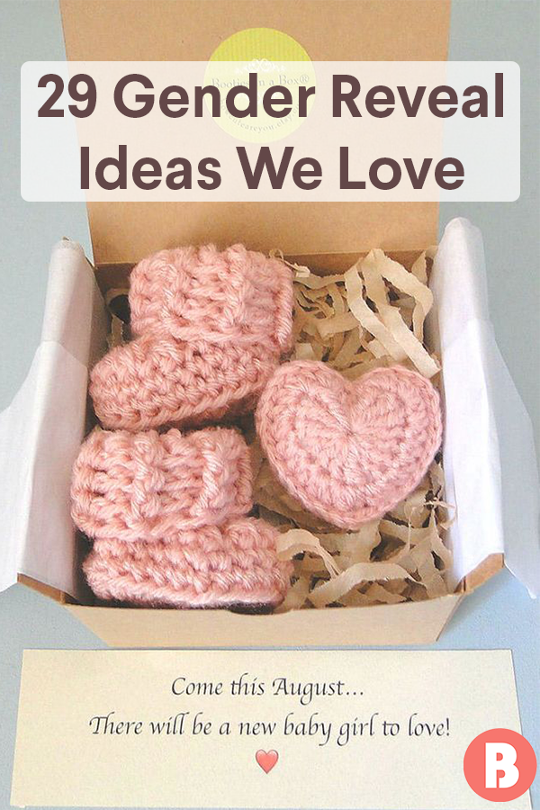 35 Gender Reveal Ideas We Love Reveal Ideas Baby Gender Reveal Gender Reveal