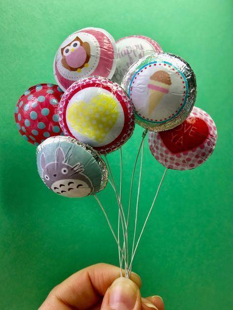 tutorial: miniature faux helium balloons #dollhouseminiaturetutorials
