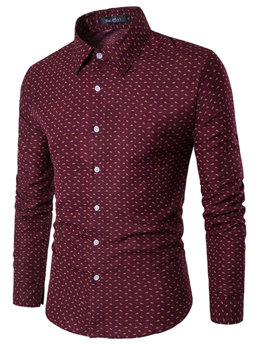 Khloe kardashian flannel shirt  BerryLook  berrylook Refined Turn Down Collar Printed Men Shirts