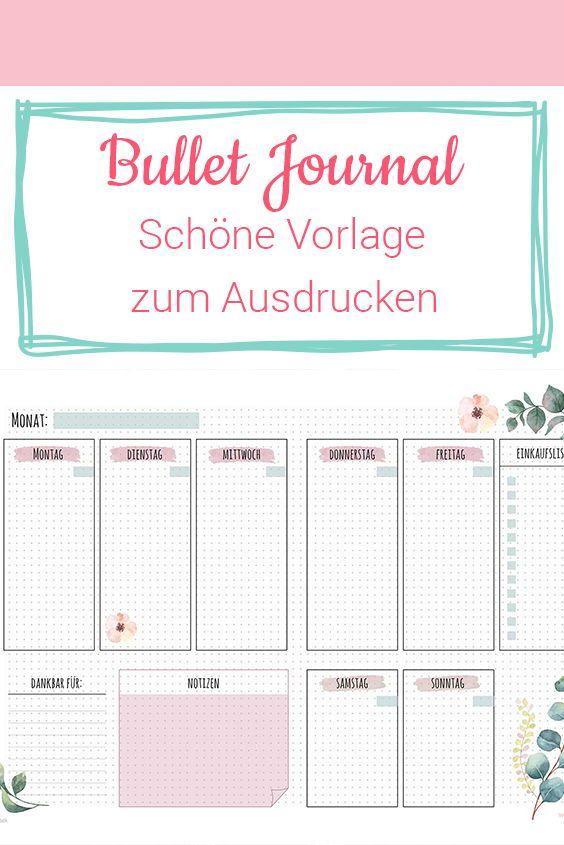 Starte dein Jahr richtig mit dieser tollen kostenlosen Bullet Journal Vorlage zum Ausdrucken. Du wirst sie lieben! #journalin #tagebuch #bulletjournal #neujahrsvorsatz #ausdrucken #kostenlos #diy