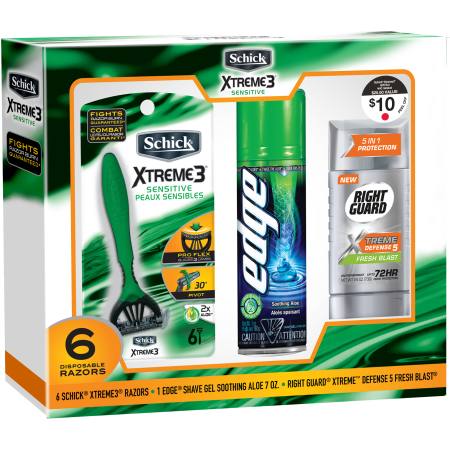 Schick Xtreme3 Men's Sensitive Skin Disposable Razor, Edge ...