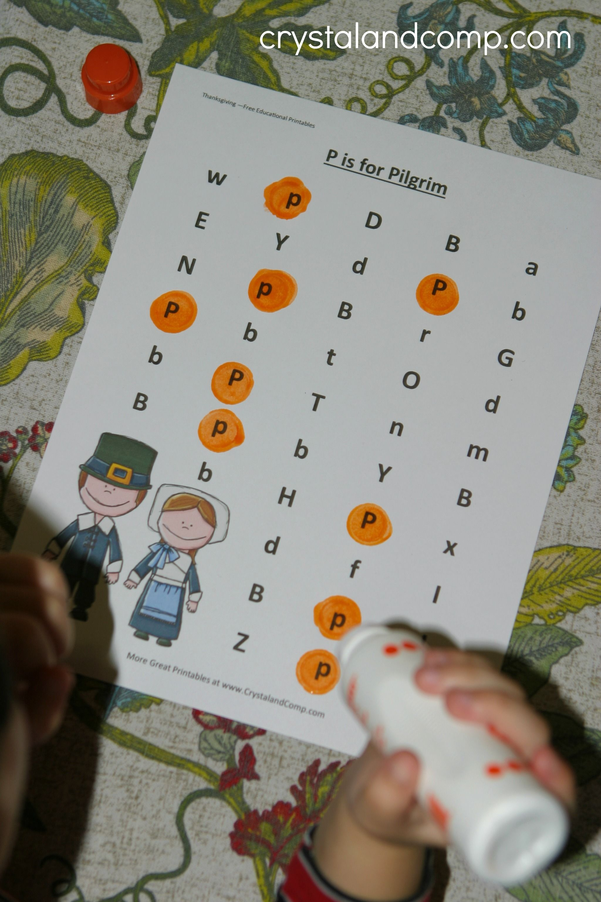 Thanksgiving Preschool Printable P Is For Pilgrim Do A
