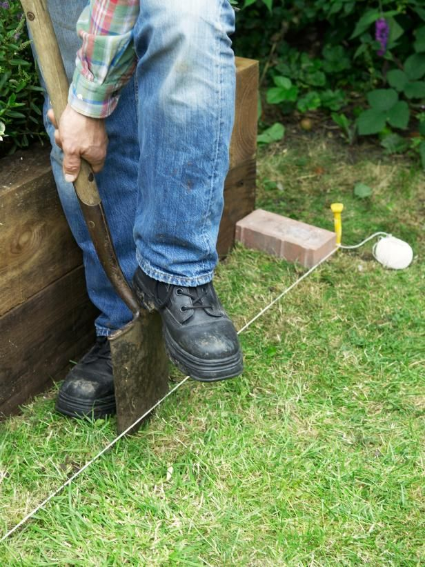 How To Install A Mowing Strip Of Bricks Grasses Bricks And Learning