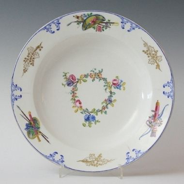 Tableware: A Sèvres Soup Plate made for Louis XV's use at Versailles, 1763