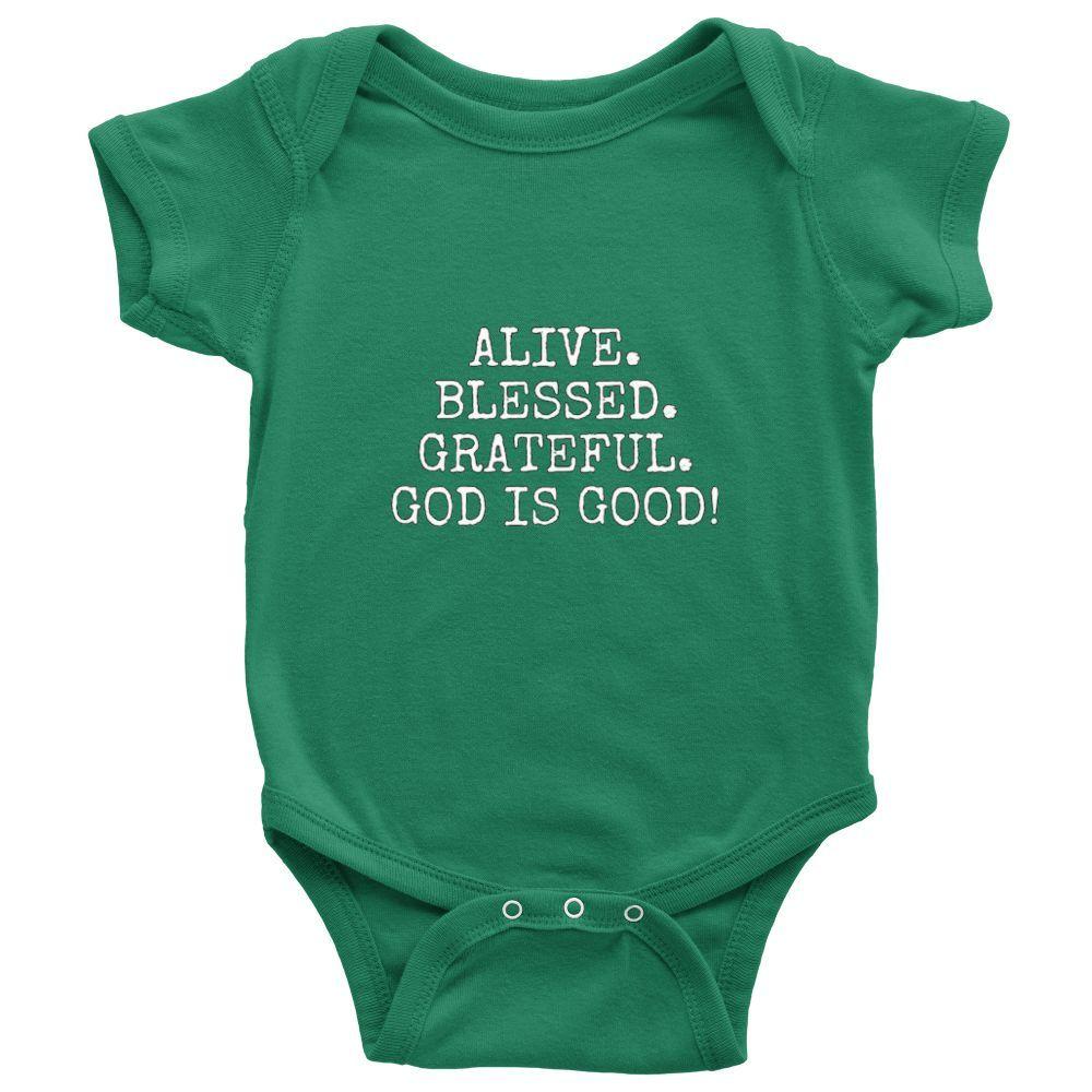 Blessed Grass Green Custom Made Iheartgod Baby Wear Onesie Series