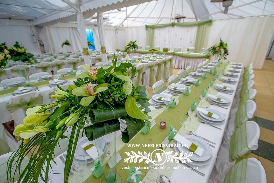 871eccce04 Menta zöld és fehér esküvői dekor Nyári hangulat | Esküvői Dekor ...