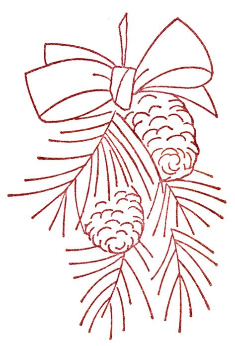 Christmas Embroidery Patterns On Pinterest