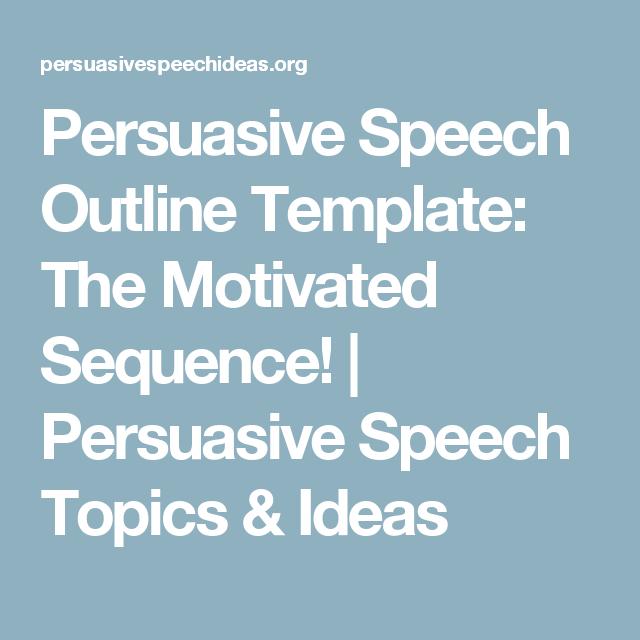 easy persuasive speech outline