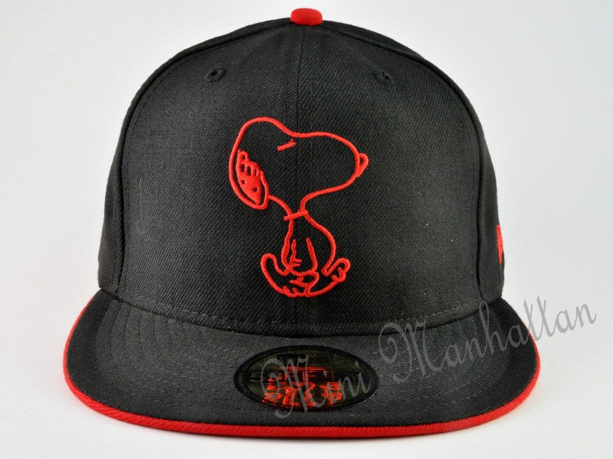7bb8ccc84be Snoopy red snoopy new era 59fifty fitted cap hat