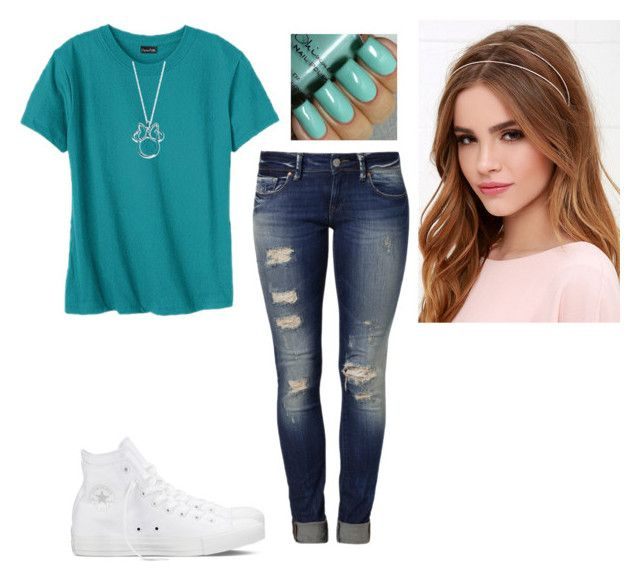 """""""Untitled #1321"""" by hannahmcpherson12 ❤ liked on Polyvore featuring Hanes, Mavi, Converse, Lulu*s, Disney, women's clothing, women, female, woman and misses"""
