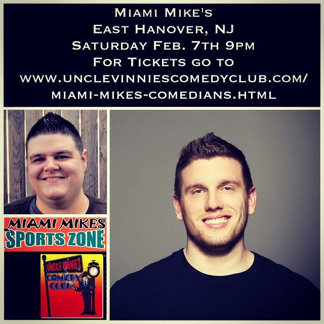 Saturday February 7th I'll be opening for Chris Distefano at Miami Mike's in East Hanover NJ, show starts at 9pm, for tickets go to https://www.eventbrite.com/e/feb-7-guy-codes-chris-di-stefano-tickets-15253080374