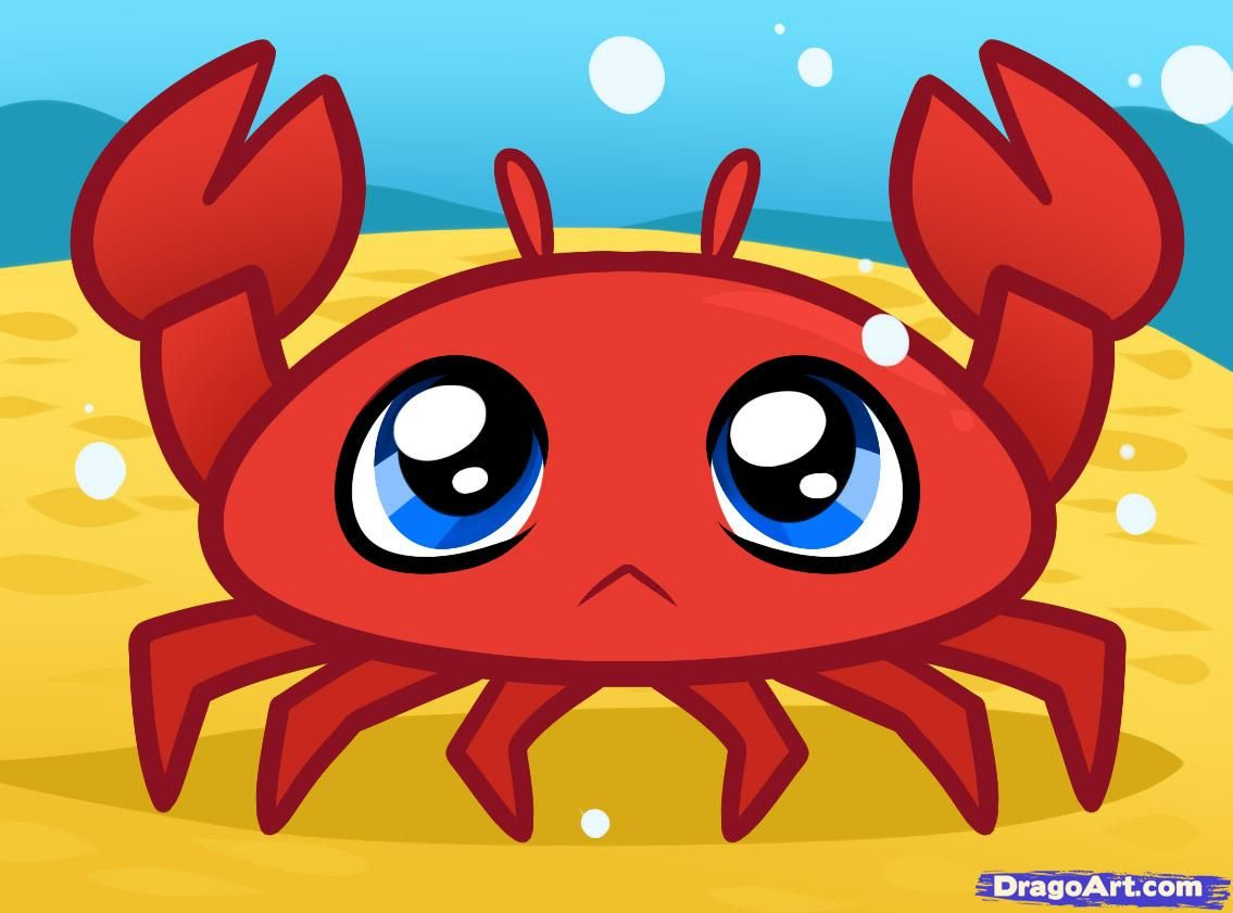 how to draw a crab for kids - Images For Kids