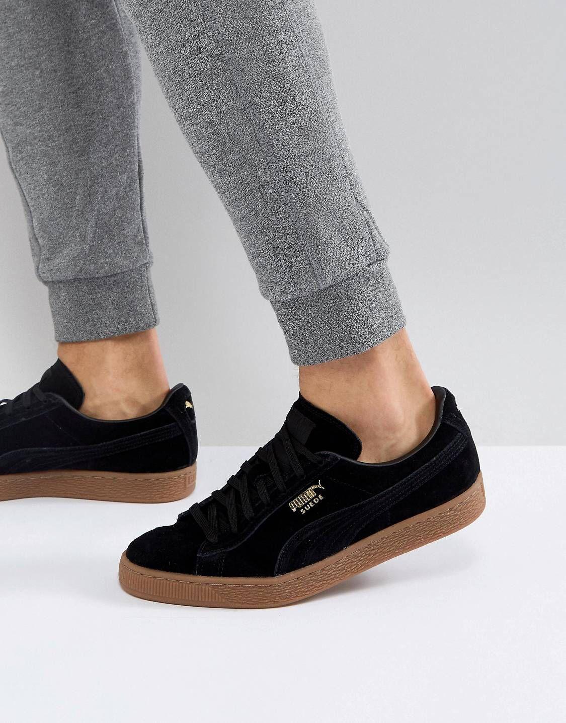 plus récent cdb24 fe516 Puma Suede Gum Sole Sneakers In Black 36324221   Footwear in ...