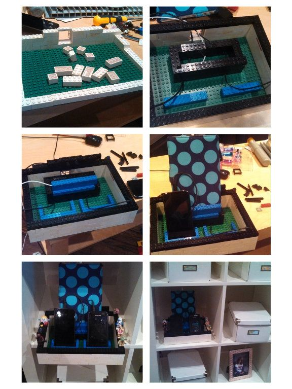 DIY Lego iPad, iPhone cell phone docking station. Add your own Lego ...