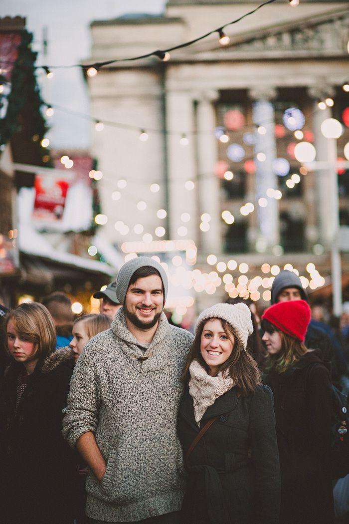 Nottingham Christmas Market Engagement Photos (With images
