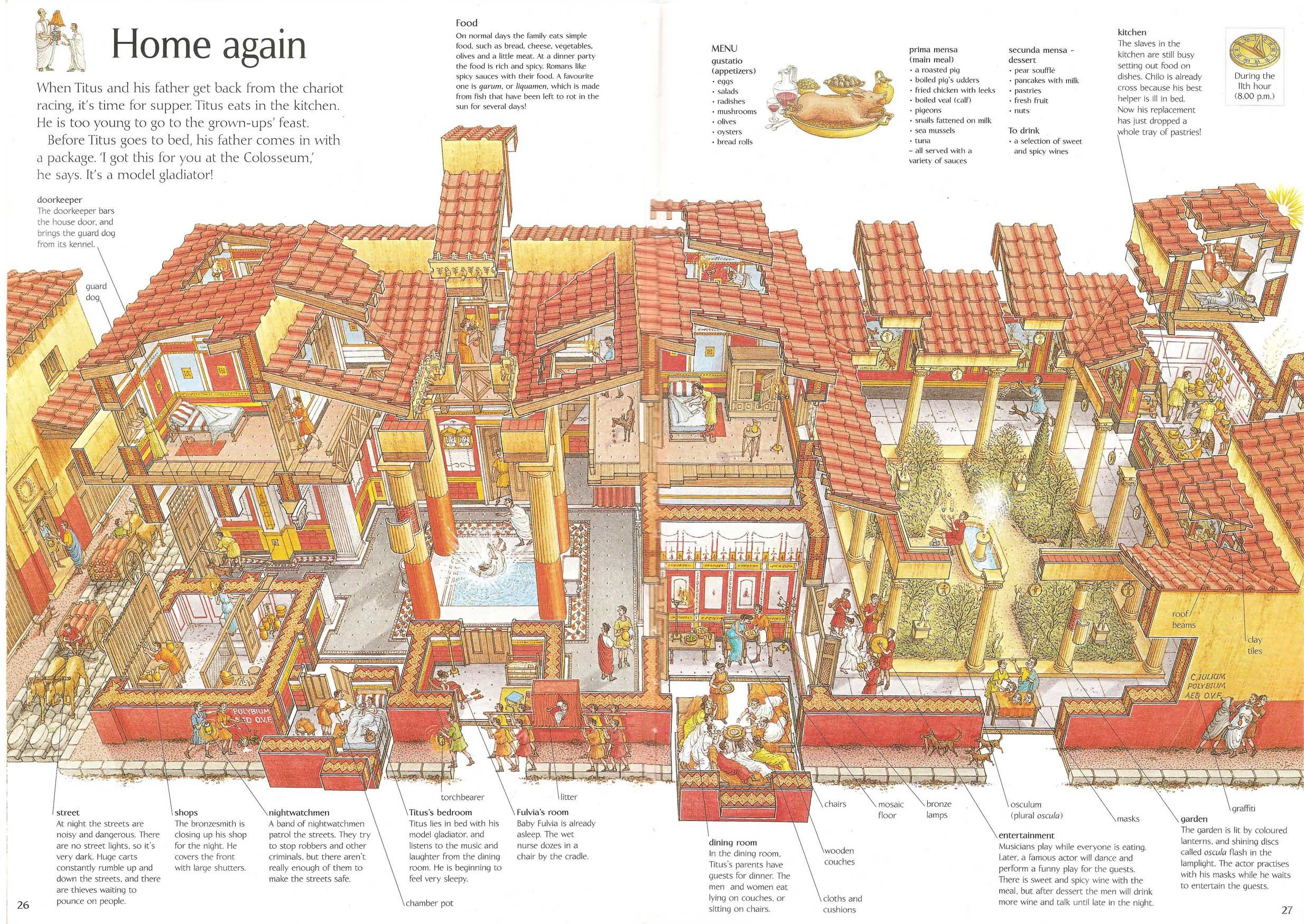 Domus Cross Section Rome Stephen Biesty Oxford