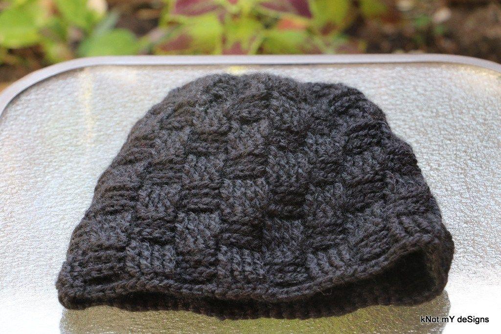 Winter / Fall Seasoned Crochet Basketweave Black Beanie Free Pattern ...