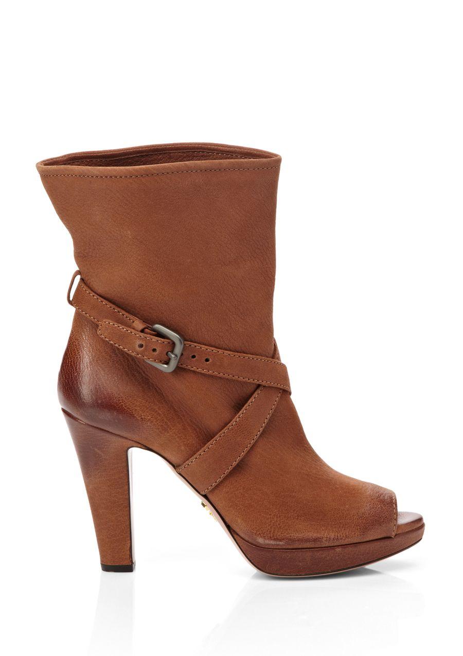 PRADA Peep Toe Ankle Boot $499.99