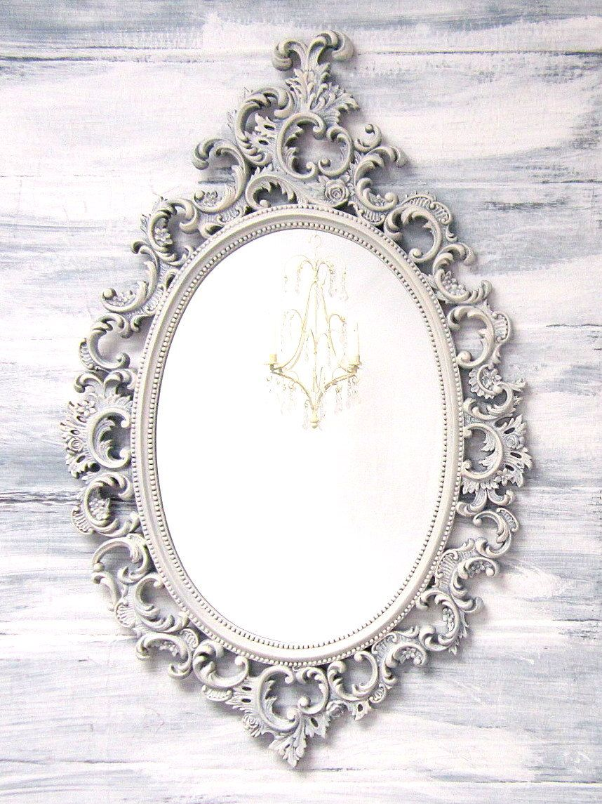 French country mirrors for sale oval shabby chic mirror for Fancy oval mirror