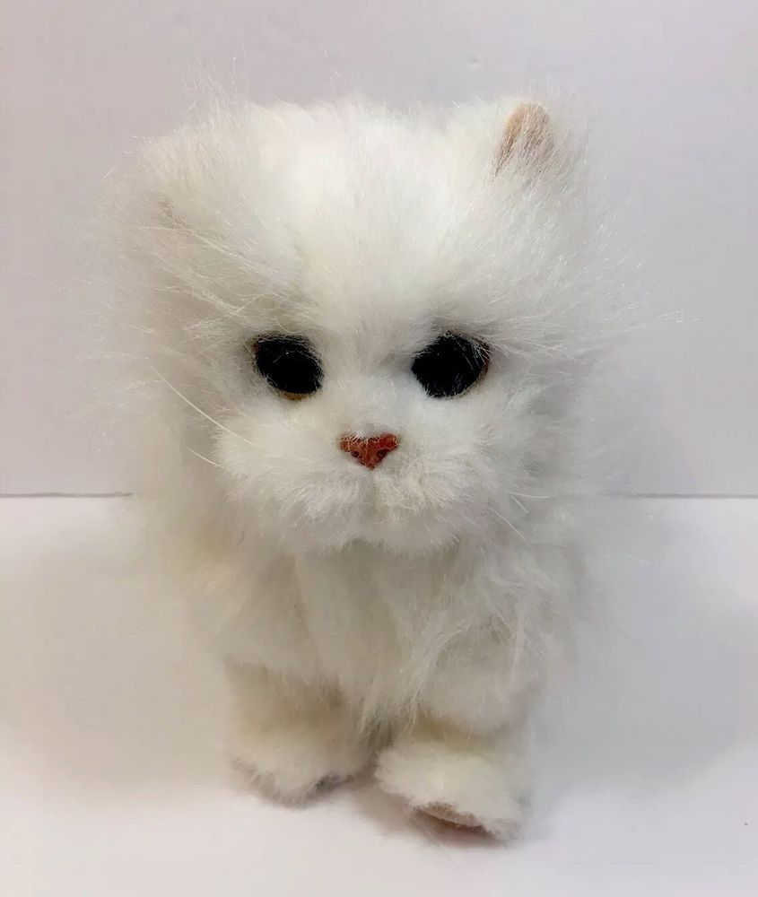Hasbro Furreal White Persian Kitty Cat Kitten 2009 Lulu S Walking Kitties Works Hasbro Cats And Kittens Fur Real Friends Persian Cat White
