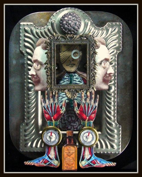 Mixed Media Assemblage by Greg Hanson
