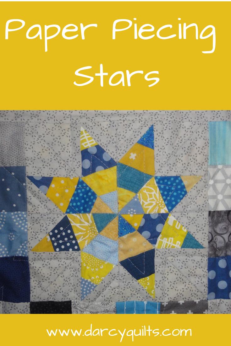 Gratis Paper Piecing Patronen.Baby Star Quilt Quilt Blokken