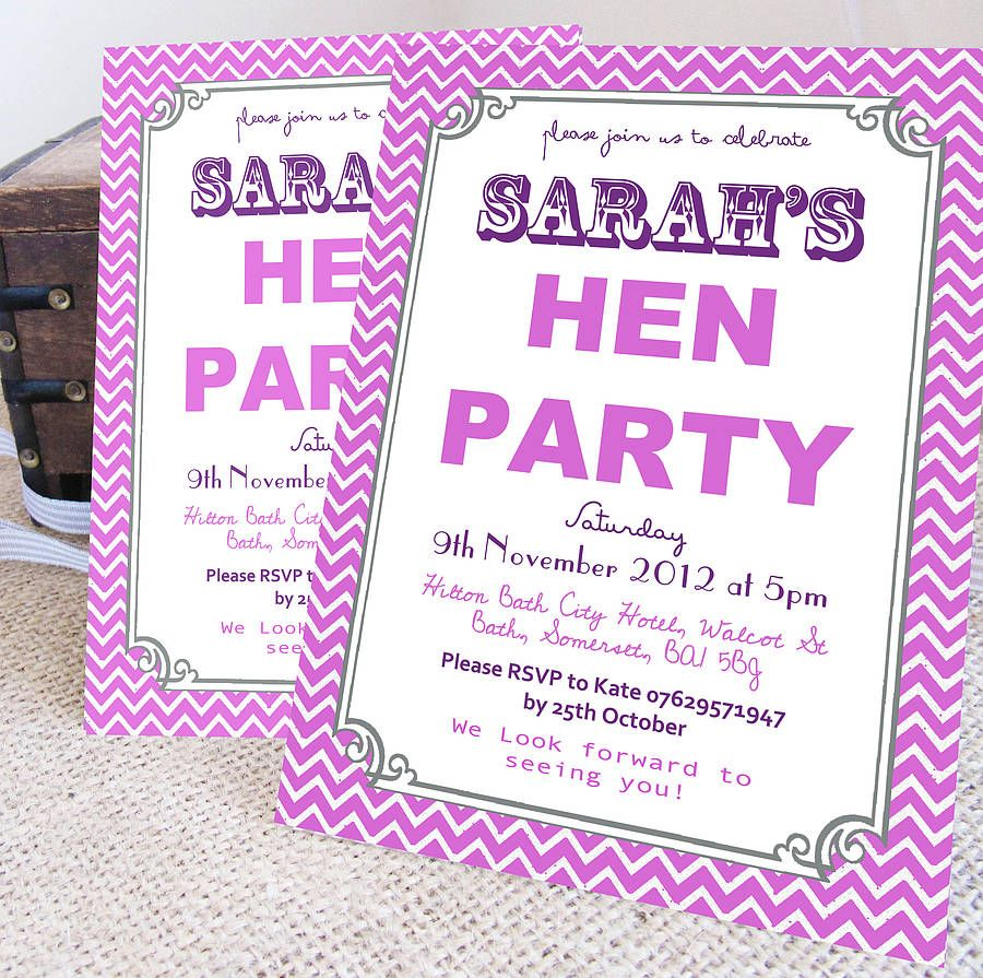 Personalised \'Hen Party\' Wreath Invitations | Hens party invitations ...