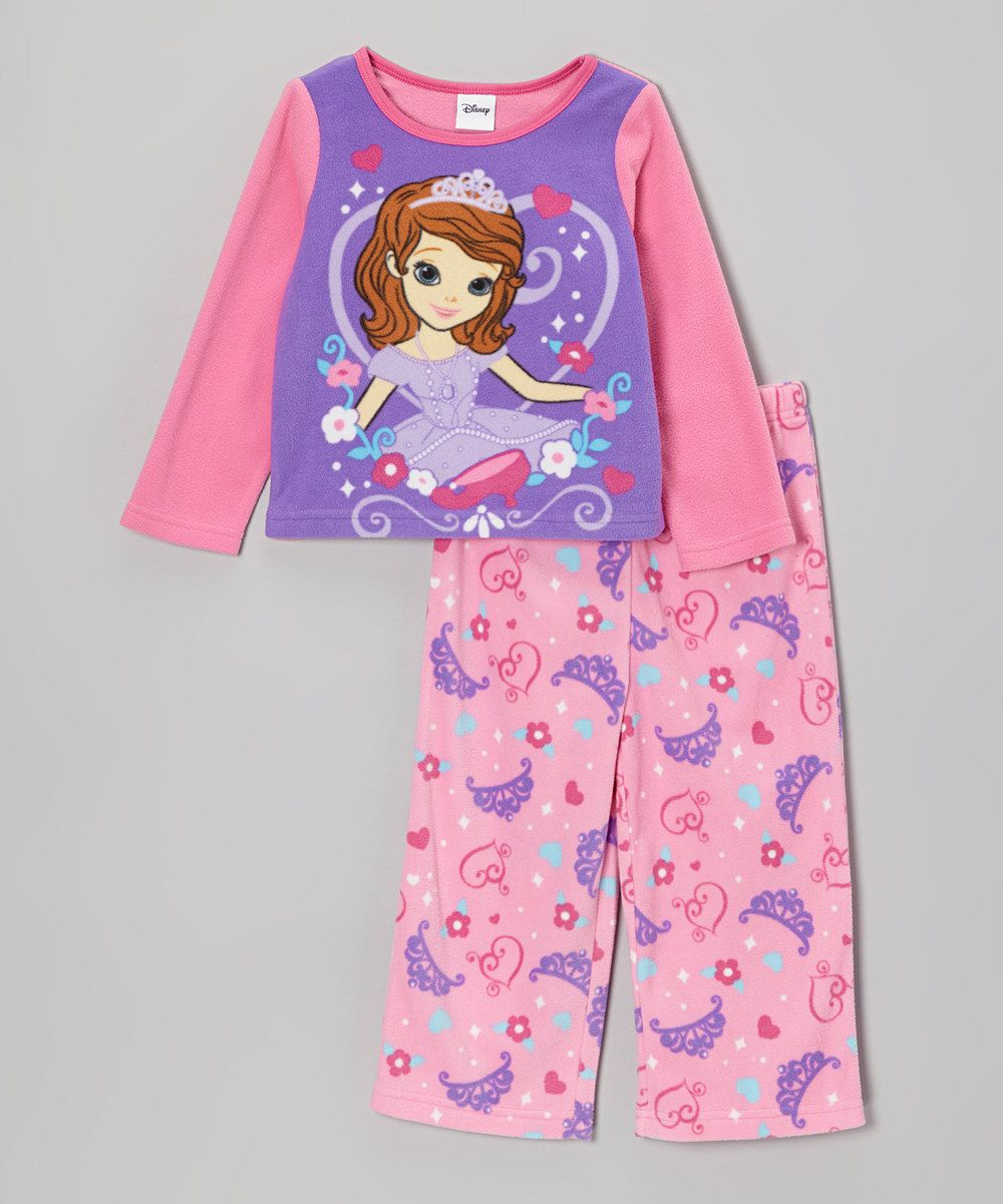 Take a look at this Pink Sofia the First Pajama Set - Toddler on zulily  today 7e6974f0c