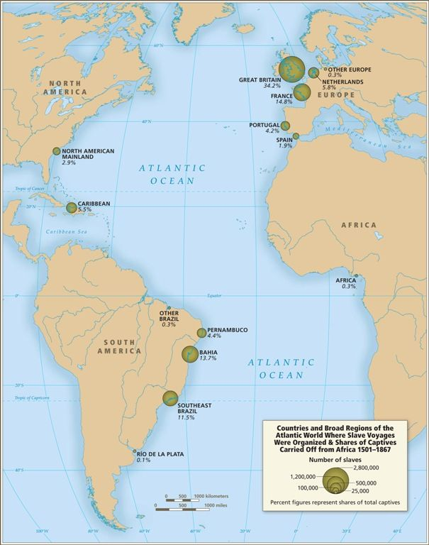 Slave trade map Mapas Pinterest Middle passage - copy world map with ocean trenches
