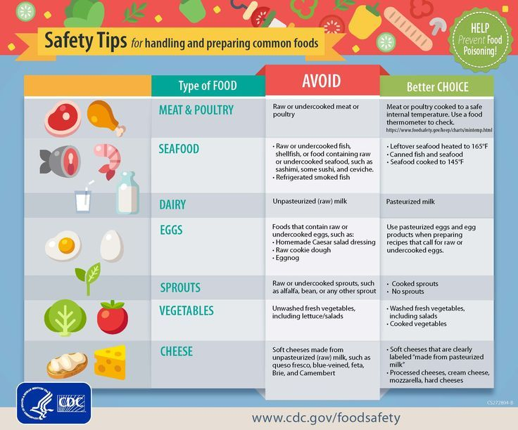 Help prevent food poisoning by following safety tips for