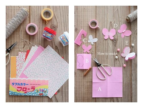 C mo hacer una guirnalda de mariposas fant stico - Como hacer mariposas de papel ...