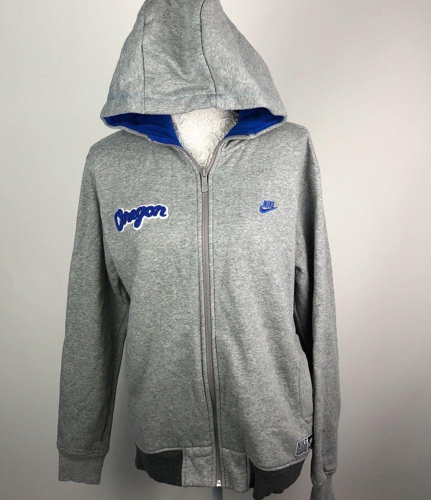Nike Oregon hoodie mens size Medium M Zip sweatshirt