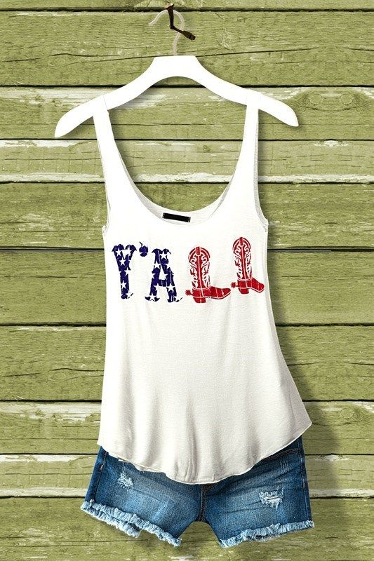 American Flag Y All Tanks Country Outfits Clothes Cool