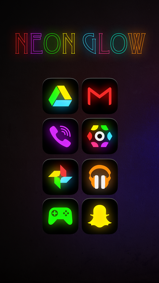 Neon Glow Icon Pack v1.5 APK Please visit our website