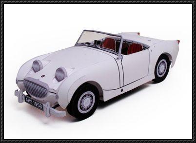 Austin Healey Sprite Paper Car Free Paper Model Download