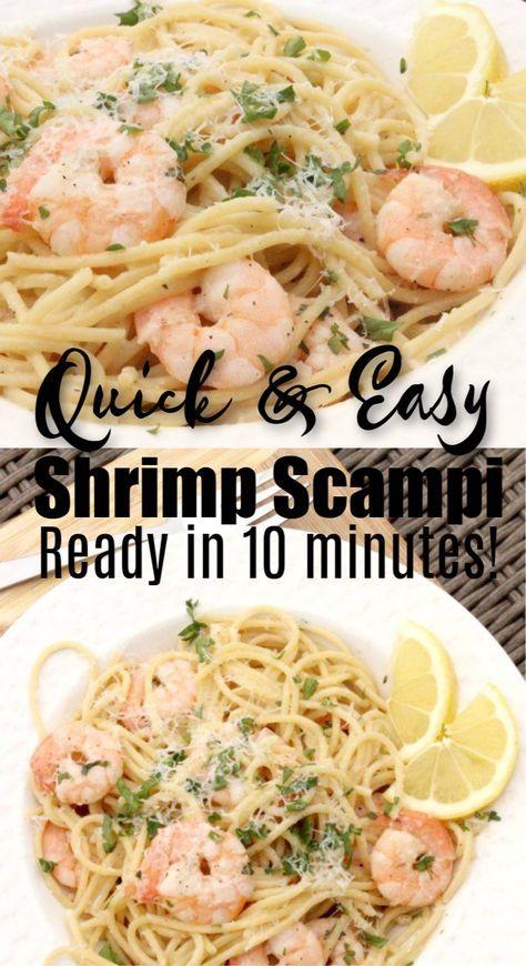 Photo of Lemon Garlic Shrimp Scampi Recipe – Easy Shrimp Scampi