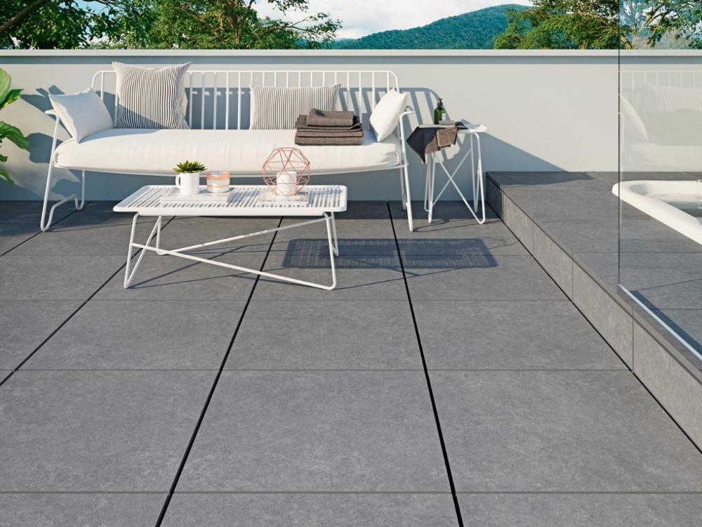 Un Carrelage Sol Effet Beton Pour Votre Interieur Et Exterieur Tanguy En 2020 Mobilier Jardin Carrelage Sol Exterieur