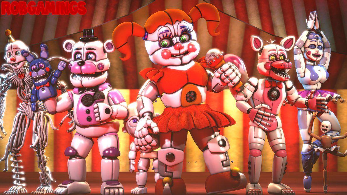 Five Nights At Freddy S Circus Baby Wallpaper Sfm Circus By Robgamings Fnaf Wallpapers Fnaf Sister Location Ballora Fnaf