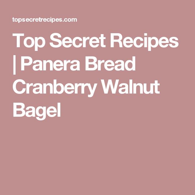 Panera Bread Cranberry Walnut Bagel Panera Bread Panera Cranberry