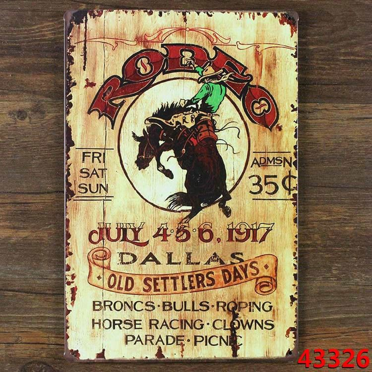 Free ship RODEO COWBOY Bull fighter Metal Painting Tin Sign Retro Plaque  Bar Pub Cafe home decoration wall plaque iron poster  4.8 a1480db034c5