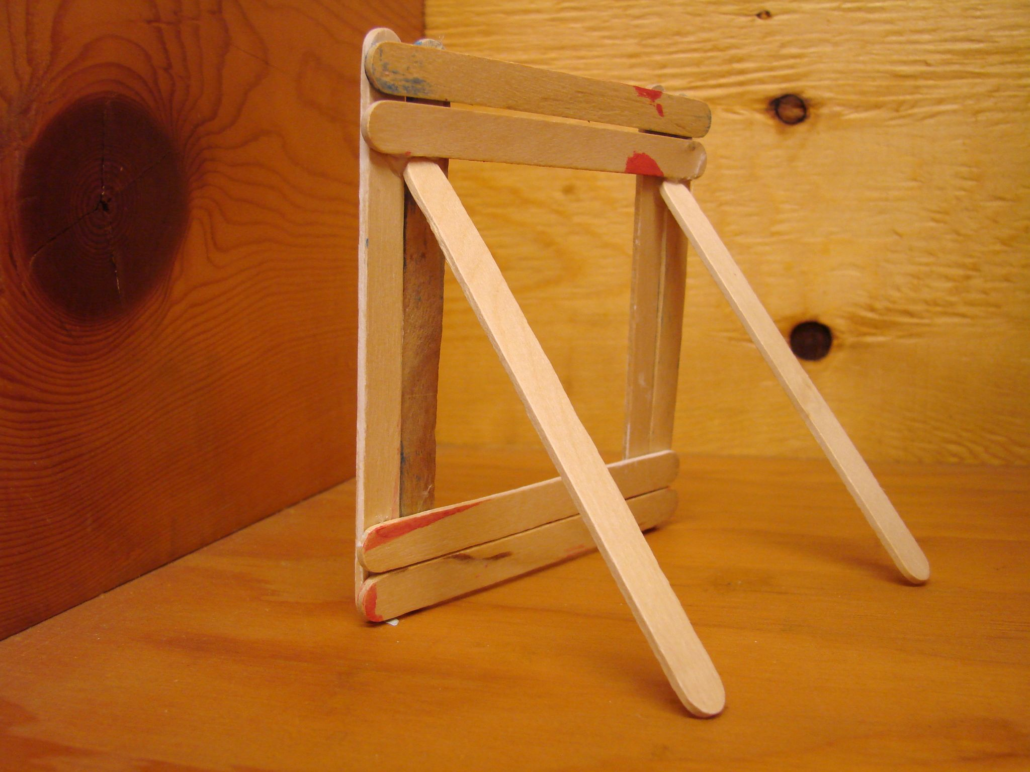 Image detail for rear view of popsicle stick picture for Popsicle picture frame crafts