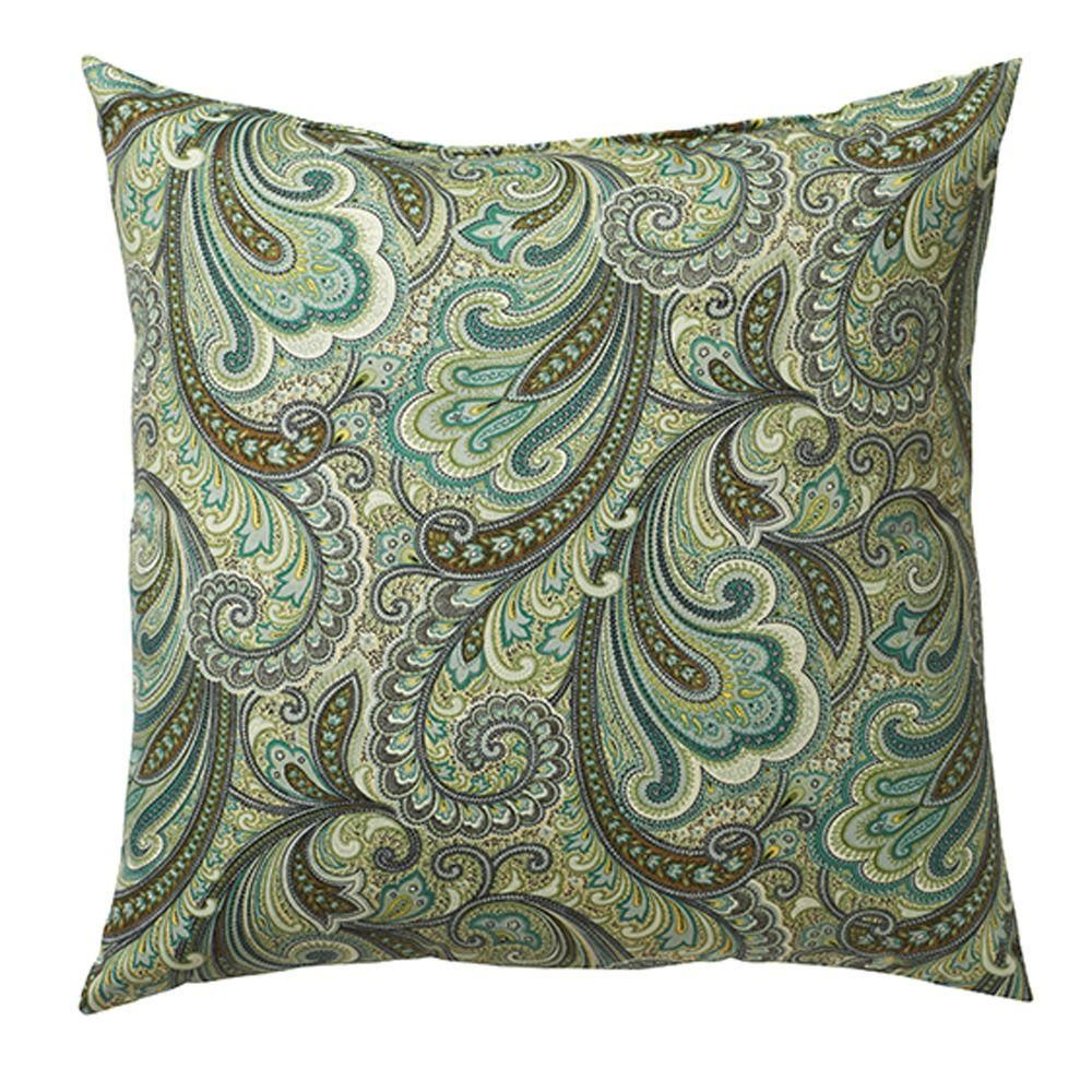 Merveilleux Home Decorators Collection 18 In. Marona Latte Square Outdoor Throw Pillow