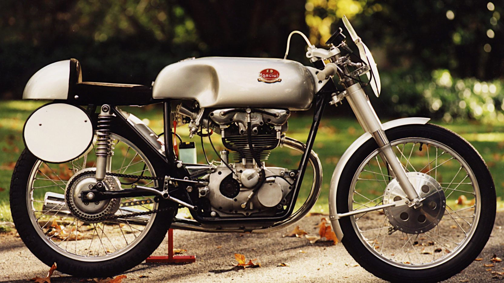 1956 Fb Mondial Twin Cam F2 Racer 1 Print Image Racing Bikes Racer Motorcycle Style
