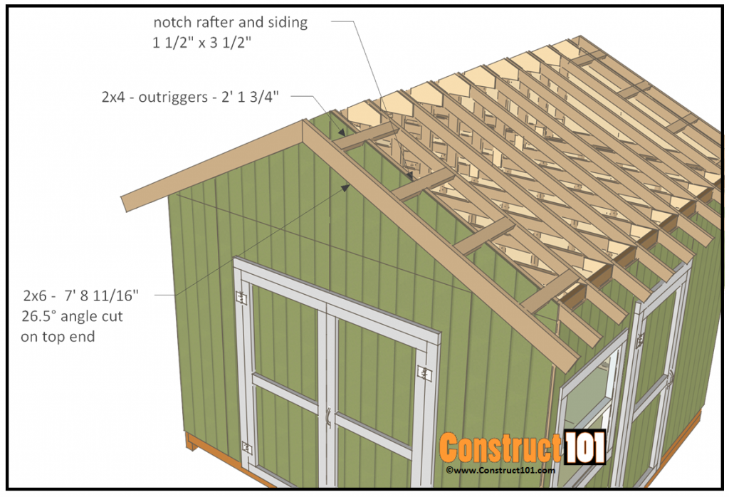 12x12 Shed Plans Gable Shed Construct101 Building A Shed Shed Plans Diy Shed Plans