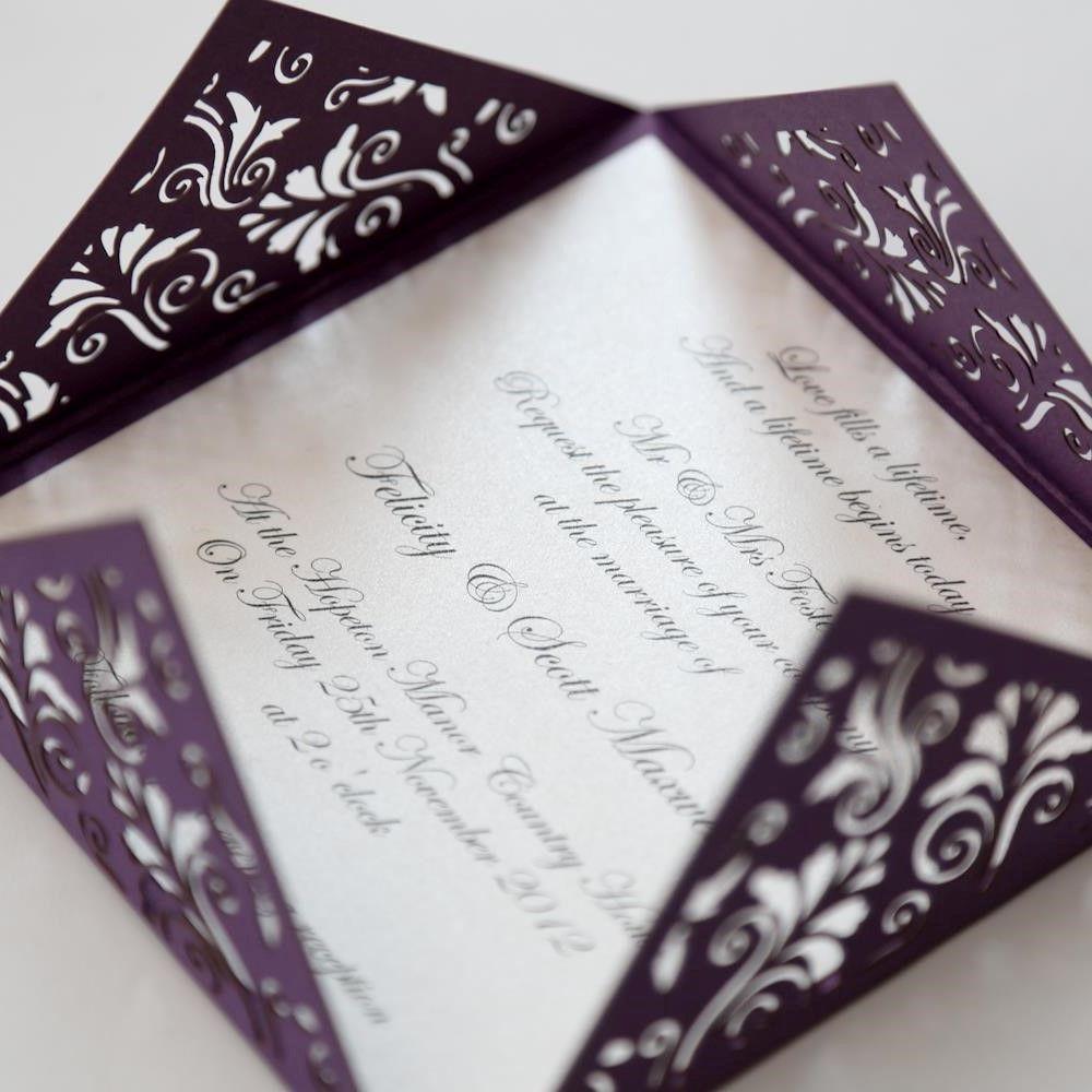 purple vintage wedding invitation templates - kadcinta.com ...