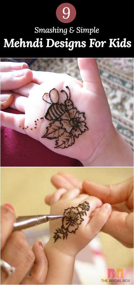 9 Smashing Simple Mehndi Designs For Kids Hena Mehndi Designs