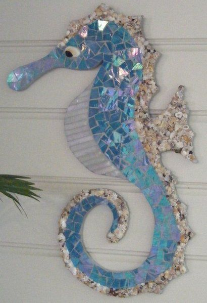 Seahorse By Jeanine Cooke Mosaic Art Mosaic Projects