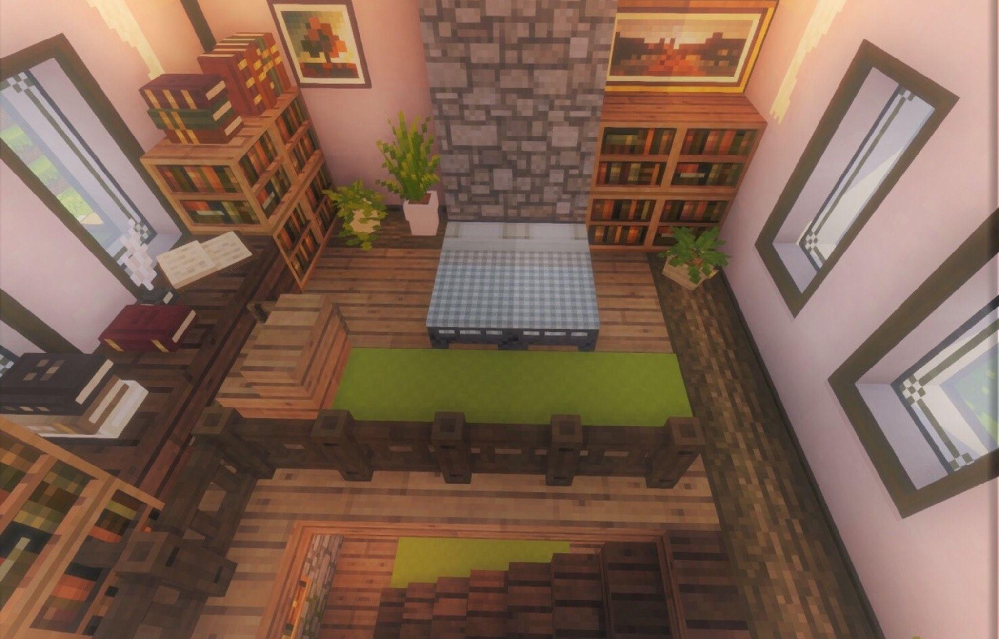 interior   Minecraft room, Minecraft interior design ...