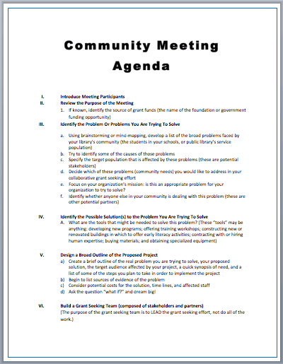 Meeting Agendas Template Hugs And Classes Meeting Agenda