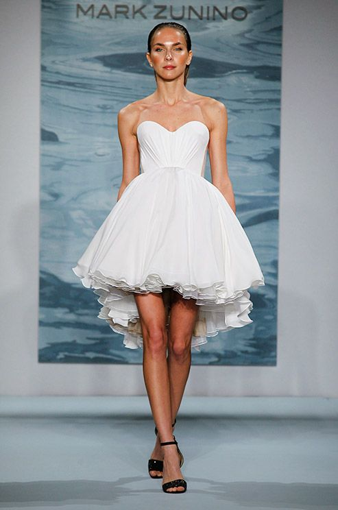 Strapless short wedding dress by Mark Zunino, 2015 | Short Wedding ...